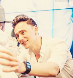 I am sure this is how he's going to personally kill me. He's going to put his hand on my arm to make sure that I'm looking into his eyes... and then his gaze will kill me. Like a basilisk. ;)