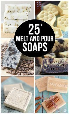 25+ Melt and Pour Soaps that are easy to make and are great for gifting! http://livelaughrowe.com