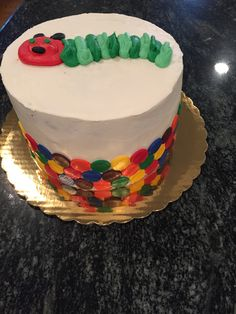 Hungry Caterpillar Cake, Birthday Cake, Desserts, Projects, Food, Log Projects, Birthday Cakes, Deserts, Dessert