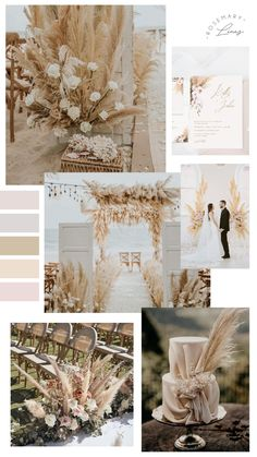 Beige Wedding, Floral Wedding, Rustic Wedding, Wedding Desert, Dream Wedding, Wedding Color Pallet, Wedding Colors, Neutral Wedding Decor, Earth Tone Wedding