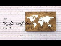 How to: DIY Rustic wall decor on wood
