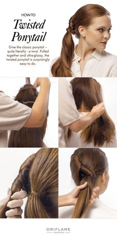 Twisted ponytail's are office-appropriate hair made easy.