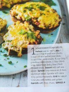 Sourdough tuna melts Tuna Melts, My Recipes, Eggs, Breakfast, Food, Morning Coffee, Essen, Egg, Meals