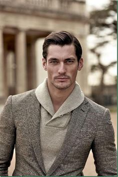 David Gandy Too long men were being portrayed as frail sickly Pattingson looking guys on these fashion mags. Good to see a change back