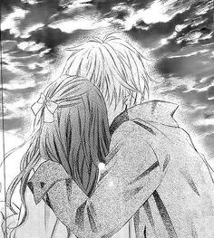 Image via We Heart It #anime #blackandwhite #boy #boyfriend #couple #cute #date #firstkiss #firstlove #girl #girlfriend #guy #kiss #love #manga #passion #scene #sky #sweet