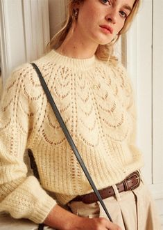 Pastel Knits Are In This Autumn - Inject Colour To Your Winter Wardrobe Knitwear Fashion, Knit Fashion, Ankara Fashion, Jumper, Fall Outfits, Cute Outfits, Summer Cardigan, Mode Plus, Mode Style