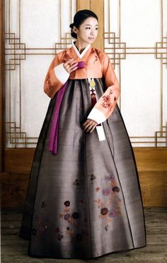 """This is called a """"Hanbok"""" and it's a traditional dress worn by women in the older days but now it's only worn for special holidays! It's gorgeous. <3"""
