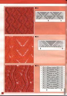 Tina's handicraft : 177 pattern for knittings stitch Lace Knitting Patterns, Knitting Charts, Lace Patterns, Knitting Stitches, Stitch Patterns, Ribbon Design, Irish Lace, Crochet For Kids, Cross Stitch Embroidery