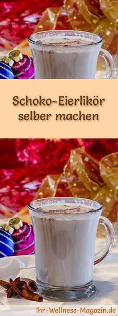 Selbstgemachter Eierlikör - Rezept: Schoko-Eierlikör selber machen - so geht's ... #weihnachten One Pot Pasta, Xmas Presents, Cocktails, Drinks, Food And Drink, Pudding, Eat, Breakfast, Tableware