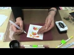 #66 Tim Holtz Distress Markers vs. Copic & Memento Markers by Scrapbooking Made Simple - YouTube