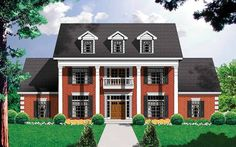 NeoClassical House Plan with 3266 Square Feet and 4 Bedrooms from Dream Home Source | House Plan Code DHSW12534