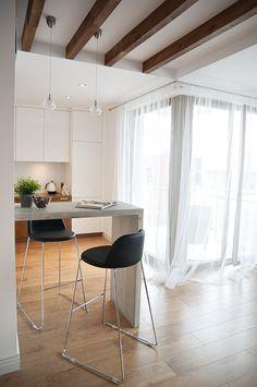 small contemporary apartment by Loko 9 Kitchen Decor, Kitchen Design, Concrete Interiors, Studio, Dinner Room, Cozy Apartment, Contemporary Apartment, Loft Design, Modern Room