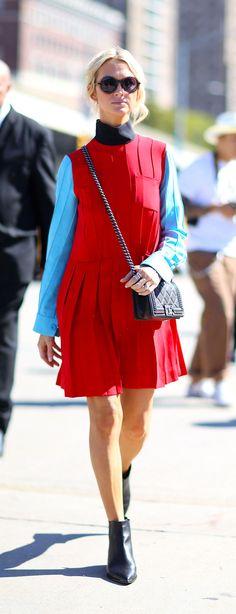 Zanna Roberts Rassi. New York Fashion Week, Spring 2016.