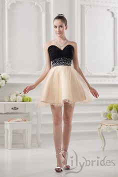 Princess Sweetheart Organza Short/Mini Length Pleated Homecoming Dress