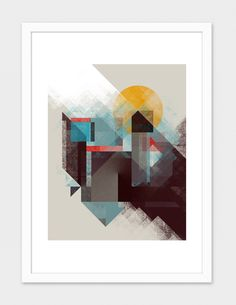 """""""Over Mountains"""", Numbered Edition Fine Art Print by Design Kitchen - From $25.00 - Curioos"""