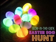 Glow in the dark Easter eggs. Nite time hunting!