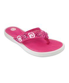 This Pink Chrissy Flip-Flop & Strap Set is perfect! #zulilyfinds