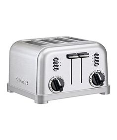 Look at this Brushed Chrome Four-Slice Toaster on #zulily today!