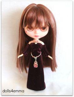 BABUSHKA - Handmade Gown, Russian Nesting Doll Necklace and Babushka / Matryoshka Belt for Blythe Dolls. By DOLLS4EMMA $18.99