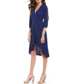 Shop for H Halston Split Sleeve Wrap Dress at Dillards.com. Visit Dillards.com to find clothing, accessories, shoes, cosmetics & more. The Style of Your Life.