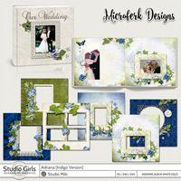Adriana Indigo Wedding Album White Gold Edition