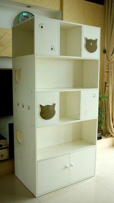 """Katzenregal Katzenhöhlen Katzenhaus von CatS-Design Limited Edition """"Maxi Book Shelf """": Amazon.de: Haustier"""