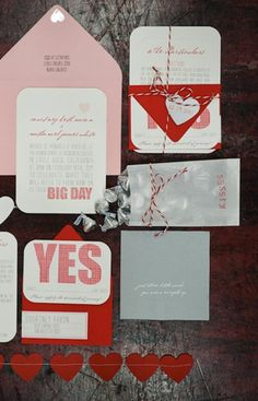 Our Valentine's Day Wedding Inspiration Is Red and White With Hearts All Over!
