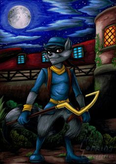 Sly Cooper by Lurking-Leanne on DeviantArt