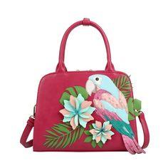 Vendula Parrot Paradise Grab Bag - Raspberry