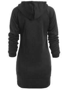 Northern Nebula No Drugs Womens Long Sleeve Hoodie Tunic Dress Solid Pullover Loose Sweatshirt Long Tops