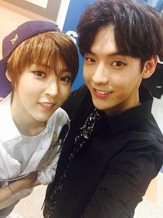 Min Hyuk & Xiumin ♥ << that's Moonbyul from MAMAMOO not Xiumin >.<