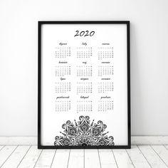Plakat: Kalendarz 2020_V Letter Board, Lettering, Design, Drawing Letters, Brush Lettering