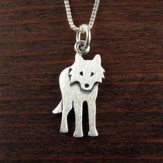Wolf Necklace, Men Necklace, Silver Pendant Necklace, Sterling Silver Pendants, Wolf Jewelry, Cute Jewelry, Metal Jewelry, Silver Jewellery, Jewelry Ideas