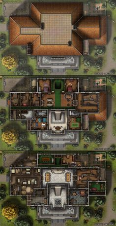 Homebrewing layout Essenheim Manor - A Three Level Stately Home and Banquet Hall! Dungeons And Dragons Homebrew, D&d Dungeons And Dragons, Rpg Cyberpunk, Fantasy City Map, Pathfinder Maps, Building Map, Rpg Map, Map Pictures, Japon Illustration