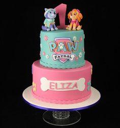 5th Birthday Party Ideas, Girl Birthday Themes, Birthday Celebration, Birthday Parties, Bolo Do Paw Patrol, Torta Paw Patrol, Paw Patrol Birthday Girl, Dog Birthday, Bolo Artificial