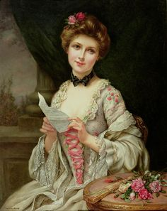The Love Letter  The Love Letter (oil on canvas) by Martin-Kavel, Francois (1861-1931) by Francois Martin-Kayel