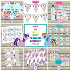 My Little Pony Party Printables Free