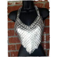 Handmade Made to Order Scale Mail Halter Top. Cosplay ,Costume,larp, Dragon, Game of Thrones, Gypsy,Belly Dance Top Scalemaille Scale Maille