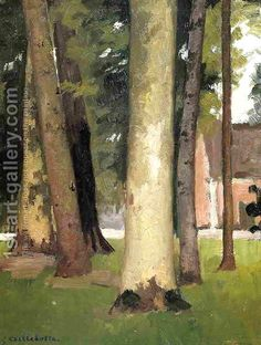 Gustave Caillebotte:Yerres  Through The Grove  The Ornamental Farm