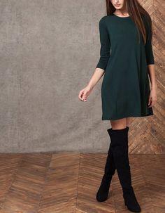 Vestido evasé - VESTIDOS - MUJER | Stradivarius España