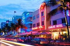 HOTEL CRAWL. Grab a drink at one of Ocean Drive's neon illuminated Art Deco hotels, like Colony, Boulevard or Starlite. Afterwards, stop by Hotel Victor  where you can sit at a sidewalk table with a glass of wine and enjoy live music on the hotel's porch.