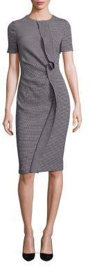 Escada Diamond Pique Ruffle-Front Dress