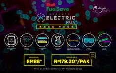 Electric Run, one of the world's most popular nocturnal fun run, debuted in Malaysia last year and saw enthusiastic runners at the event, bagging Neon Run, Electric Run, Light Up, The Darkest, Glow, Running, Keep Running, Why I Run, Sparkle