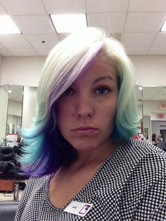 #aqua #blue #purple #blonde