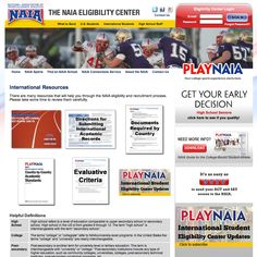 If you're an international student-athlete and you want to attend an NAIA (National Association of Intercollegiate Athletics) college in the U.S. (NAIA is like the NCAA, but governs smaller colleges and universities), here are some resources you will find VERY helpful and mandatory!  http://www.playnaia.org/page/internationalresources.php