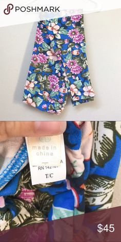 **HOST PICK!!!** NWT Lularoe Leggings New with tags LuLaRoe leggings, size TC (tall/curvy) fits adult sizes 12-24. This is a beautiful and rare blue floral print, vintage LuLaRoe. Buttery soft goodness for your legs! Plus size fashion. LuLaRoe Pants Leggings