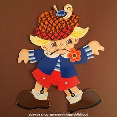 No236: MERTENS-KUNST ©1990: Hampelmann  Jumping Jack Sunnyboy GERMAN VINTAGE TOY in Antiquitäten & Kunst, Antikspielzeug, Holzspielzeug | eBay!