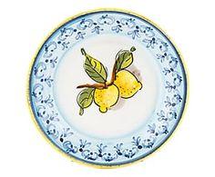 Piatto fondo in terracotta Limoni - D 22 cm
