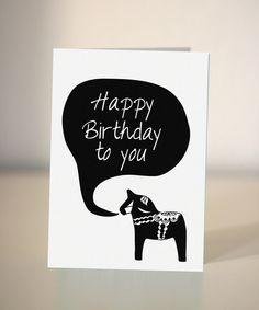 Birthday card - Dala horse Birthday card