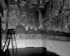 """An exposure taken of light coming from a small hole. Ever herd of  camera obscura. The picture on the wall is actually the veiw from the window. becuase the window is covered and totally blacked out except for a small hole in the covering, the light coming in will project an image onto the wall. but it will be udside down. Camera obscura, Latin for """"dark room"""". camera meaning """"sealed vault/chamber"""" and obscura meaning """"darkness"""". This process the dates back to 5th nd 4th century B.C"""